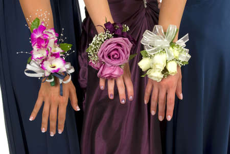 human wrist: Prom corsages