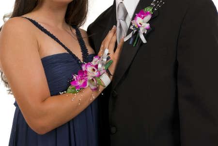 tuxedo man: Prom o corsage e boutonniere di nozze Archivio Fotografico