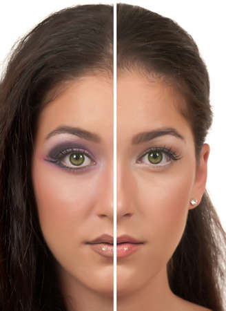 the other side: Day and Night make up ( one side day make up, the other side night make up )