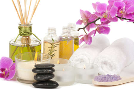 terapias alternativas: Aromaterapia y tratamiento de spa Foto de archivo
