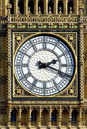 Close up shot of Big Ben in London photo