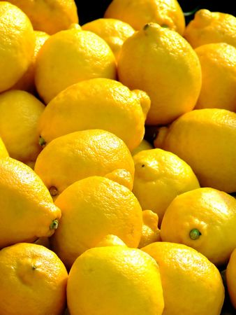 Lemon as selling on a market Stock Photo