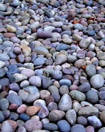 rotund: Bunch of stones on a beach ground