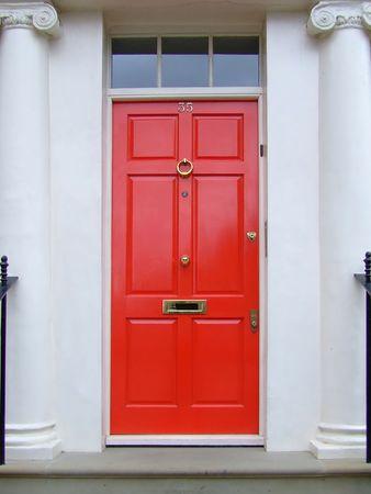 Classic style London door Stock Photo - 409698