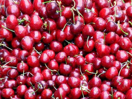 Bunch of cherry on a market Stock Photo - 428029
