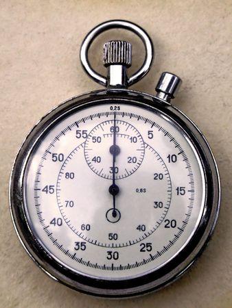 chronograph: Precision retro pocket analogue chronograph stopwatch Stock Photo