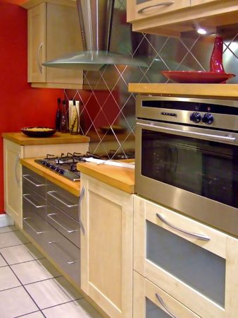 appearance: Modern kitchen electric appearance in line