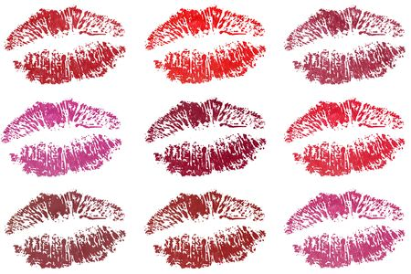 hot lips: Nine fresh sensible desirable lips in different color