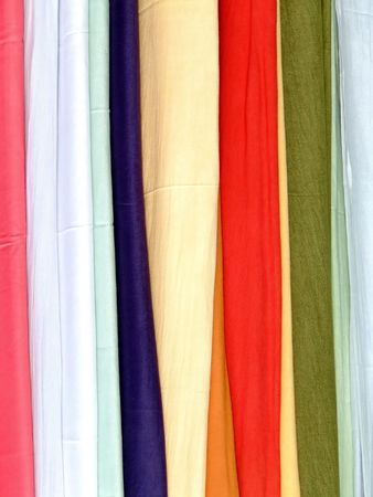 scarves: Bunch of cotton scarves in different colors
