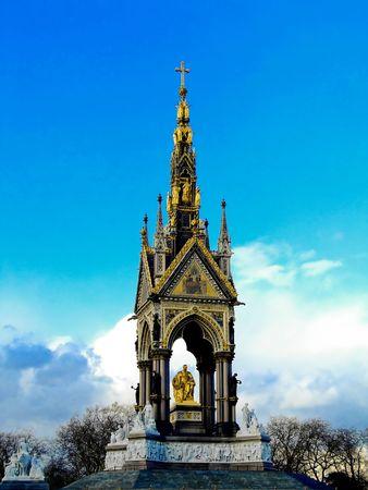 albert: Big gold statue of the Prince Albert