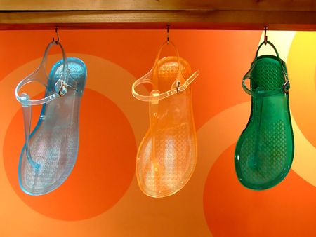 sandal tree: Sandalia de goma colorida con estilo del �rbol para la diversi�n