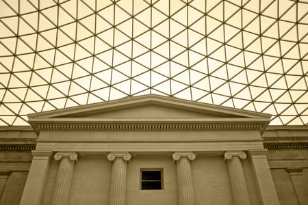 Classic building with columns and modern ceiling Stock Photo - 850066