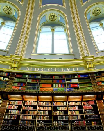directory book: Old style Victorian library with big window