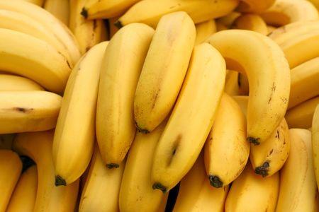 banane: Un tas de mati�res organiques et bananes jaunes