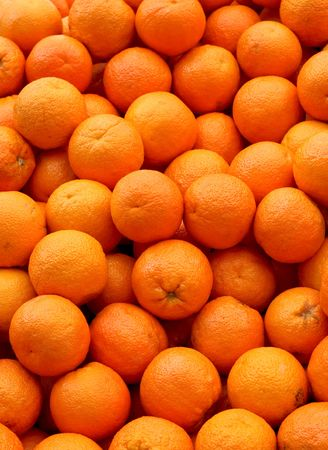 Bunch of fresh and big oranges fruit Stock Photo