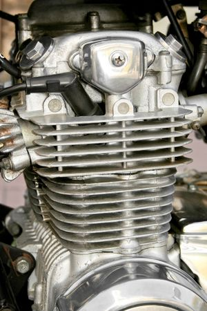 Close up view of the motorcycle engine Stock Photo - 876413