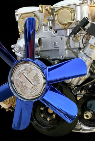 Axial blue fan for big car engine Stock Photo - 881851
