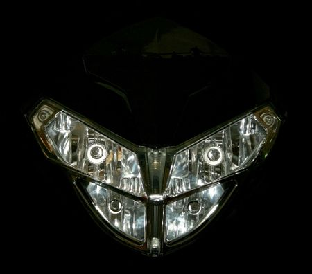 New motorcycle head light with four bulbs photo