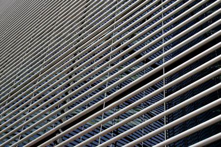 perspectiva lineal: Perspectiva de vista de la estructura lineal de fachada de edificio