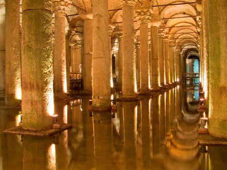 shafts: Antike r�mische Wellen Unterst�tzung Wassertank