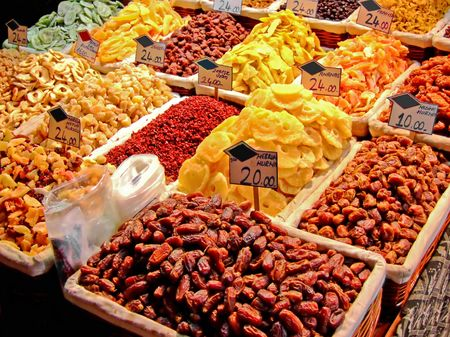 dry fruits: Dry fruits store on Istanbul spice market
