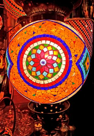 A lot of different lanterns in variety of colors photo