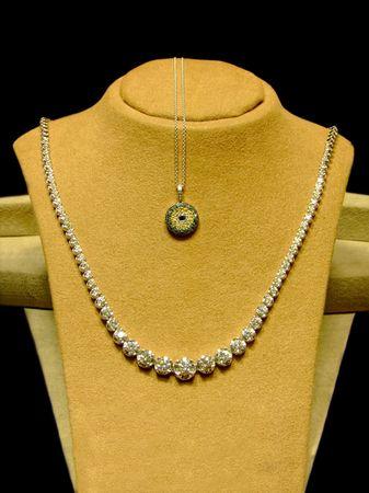 Fine platinum necklaces with lot of diamonds  Stock Photo - 895049