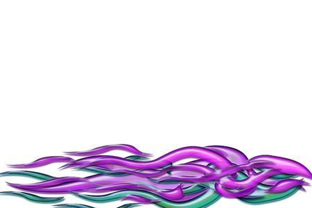 3d background illustrated purple and blue decoration photo