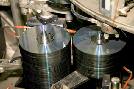 Inside CD and DVD disc production factory  photo