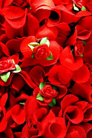 Pure red roses background with red leafs Stock Photo - 938948