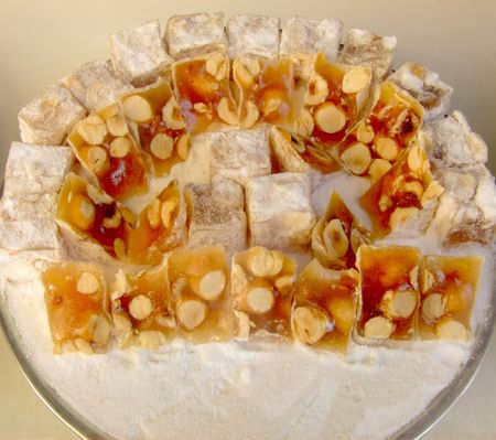 Very sweet and fresh traditional Turkish delight photo