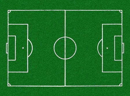 cancha de futbol: Vista a�rea del campo del estadio del f�tbol horizontal Foto de archivo