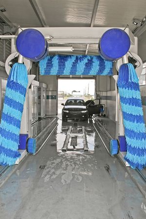 Car wash service interior view at work Stock Photo - 1208466