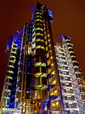 Big modern oil rig platform tower at night