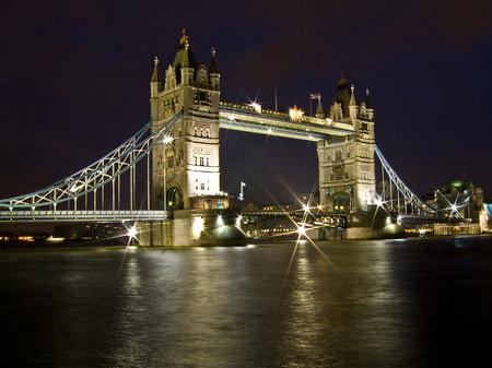 Night shot of famous London Tower bridge Stock Photo - 1527435