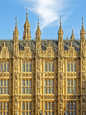 Houses of Parliament in central London facade Stock Photo - 1537100