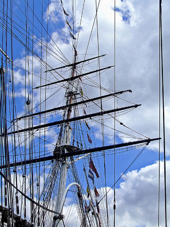Big foremast on the old sail ship Stock Photo - 1599437