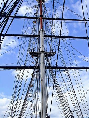 Tall foremast on the big sail ship Stock Photo - 1599442