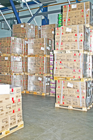 Big warehouse storage room with boxes and shelves Stock Photo - 1628771