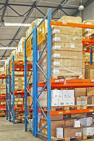 Big warehouse storage room with boxes and shelves Stock Photo - 1628772