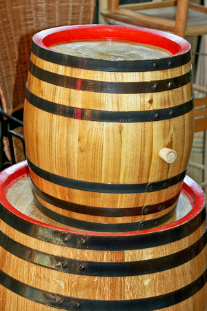 viticulture: Small wooden barrel for wine or beer