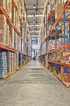 Big warehouse storage room with boxes and shelves Stock Photo - 1685129
