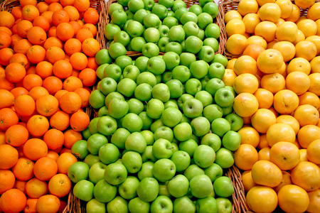 A bunch of green apples on the market Stock Photo - 1696913