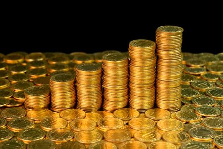 Success growth chart made of golden coins Stock Photo - 1798340
