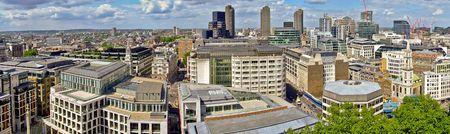 percept: London panorama of Barbican part of town