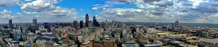 percept: London panorama aerial view of east side