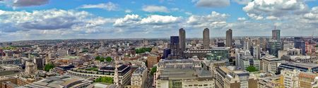 central europe: London panorama of business quart north east  Stock Photo