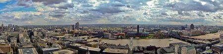 percept: Panorama of Tate modern gallery and Millennium Bridge