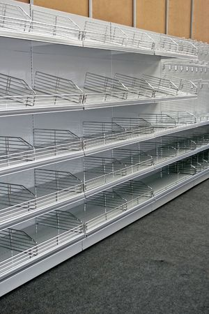 Portrait shot of empty super market rack Stock Photo - 1914630
