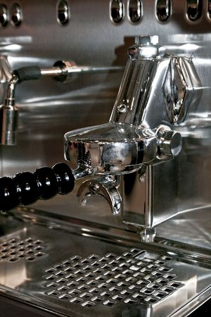 Powerful automatic espresso and cappuccino machine close up Stock Photo - 1932640